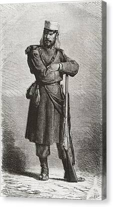 Spain 19th C.. Spanish Soldier Canvas Print by Everett