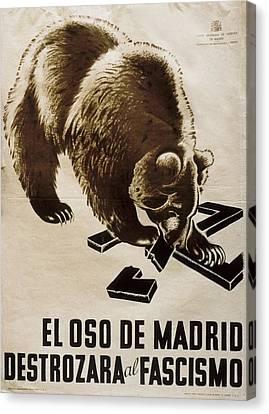 Spain. Civil War 1936-1939. El Oso De Canvas Print by Everett