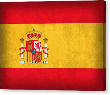 Spain Flag Vintage Distressed Finish Canvas Print by Design Turnpike