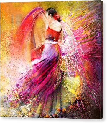Spain - Flamencoscape 12 Canvas Print by Miki De Goodaboom