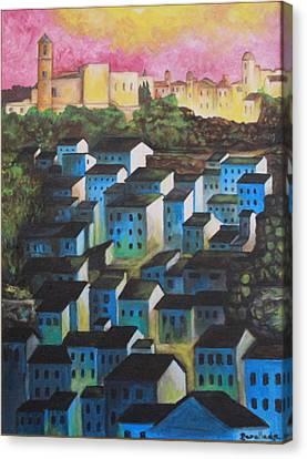 Little Town Of Spain Canvas Print