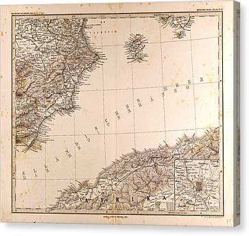 Spain Madrid Gotha Justus Perthes 1872 Atlas Canvas Print