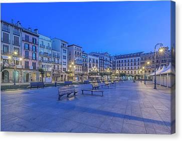 Navarre Canvas Print - Spain, Pamplona, Plaza Del Castillo by Rob Tilley