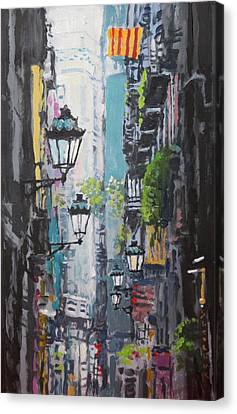 Spain Series 03 Barcelona Canvas Print by Yuriy Shevchuk