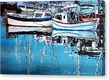 Ports Canvas Print - Spain Series 04 Cadaques Portlligat by Yuriy Shevchuk