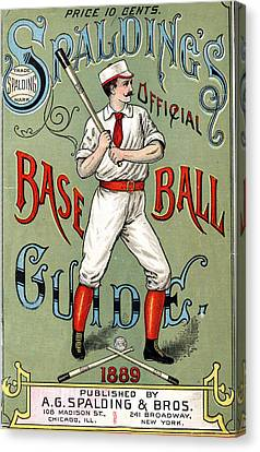Batter Canvas Print - Spalding Baseball Ad 1189 by Unknown