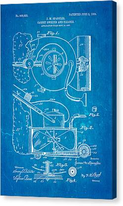 Quilter Canvas Print - Spangler Carpet Cleaner Patent Art 1908 Blueprint by Ian Monk