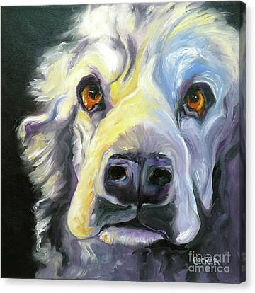Spaniel In Thought Canvas Print by Susan A Becker