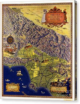 Spanish And Mexico Ranchos Canvas Print by Pg Reproductions