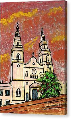 Spanish Church Canvas Print by Sarah Loft
