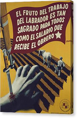 Terrestrial Canvas Print - Spanish Civil War 1936-1939. El Fruto by Everett