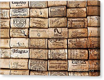 Spanish Corks Canvas Print by Clare Bevan
