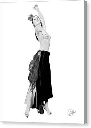 Spanish Cabaret Dancer Canvas Print by Quim Abella
