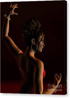 Spanish Flamenco Dancer - 1 Canvas Print by Fairy Fantasies