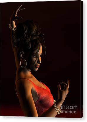 Spanish Flamenco Dancer - 2 Canvas Print by Fairy Fantasies
