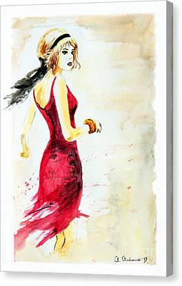 Spanish Girl Canvas Print by Anna Androsovski