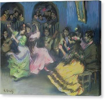 Spanish Gypsy Dancers, 1898 Canvas Print by Ricardo Canals y Llambi