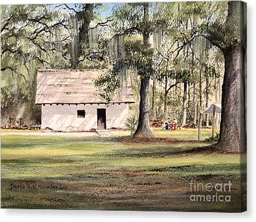 Spanish House Canvas Print - Spanish House Mission San Luis Tallahassee by Bill Holkham