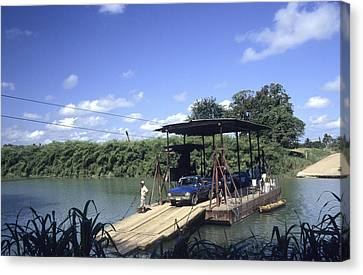 Spanish Lookout Ferry Belize Canvas Print by Jim  Wallace