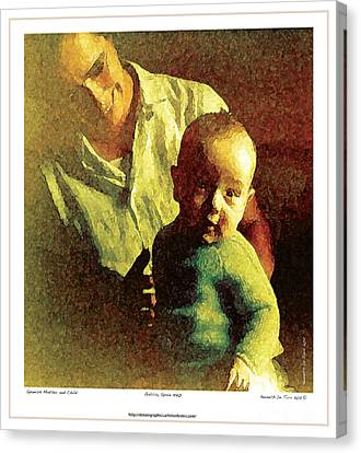 Canvas Print featuring the photograph Spanish Mother And Child by Kenneth De Tore