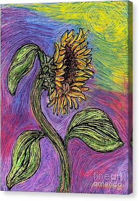 Spanish Sunflower Canvas Print by Sarah Loft