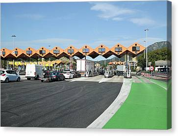 Spanish Toll Booths Canvas Print by Photostock-israel