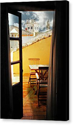 Spanish Veranda  Canvas Print