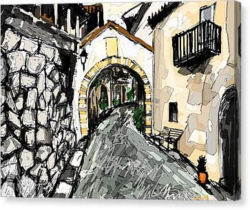 Spanish Village/ La Aldea Canvas Print by Paul Sutcliffe