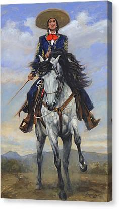 Spanish Woman On White Paso Fina Canvas Print