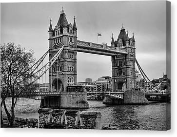 Spanning The Thames Canvas Print by Heather Applegate