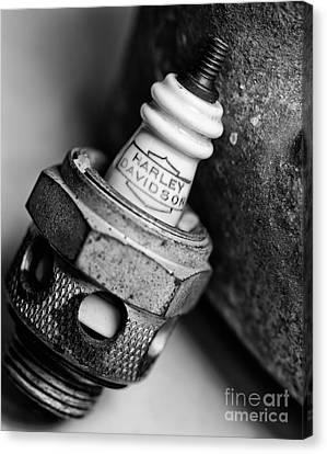 Combustion Canvas Print - Spark Plug  1 by Wilma  Birdwell