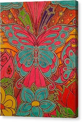 Sparkle Butterfly Canvas Print by Erica  Darknell