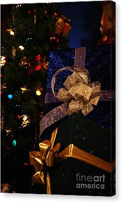 Sparkle Ribbon And Bows Canvas Print by Linda Shafer