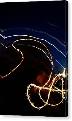 Canvas Print featuring the photograph Sparkler by Joel Loftus