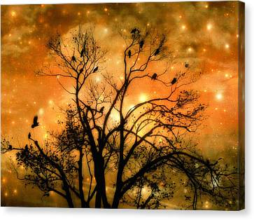 Colorful Sky Canvas Print - Sparkling Stars Light The Sky by Gothicrow Images