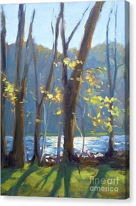 Sparkling Light On The Lake Canvas Print