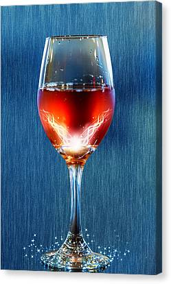 Sparkling Moscato Canvas Print by Bill Tiepelman