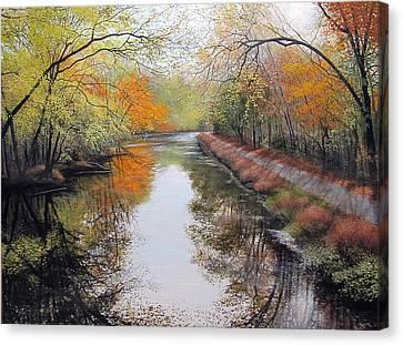Sparkling November Reflections Canvas Print by David Bottini