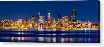 Sparkling Seattle Canvas Print by Alexis Birkill