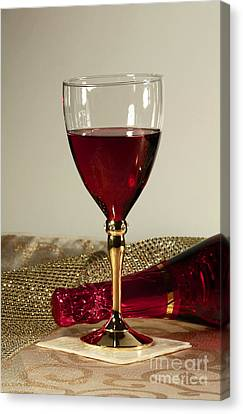 Sparkling Wine For One Canvas Print by Inspired Nature Photography Fine Art Photography