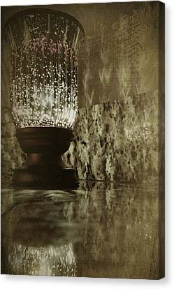 Sparkly Candleholder Canvas Print by Bonnie Bruno