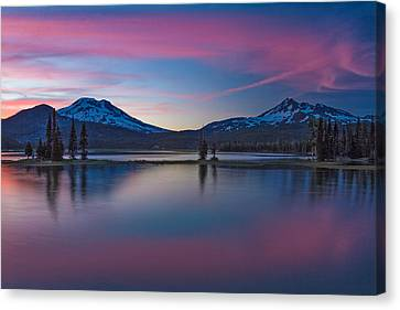 Sparks Lake Reflections Canvas Print by Patricia Davidson