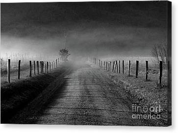 Sparks Lane In Black And White Canvas Print