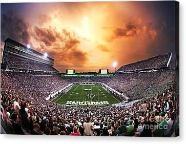 Michigan State Canvas Print - Spartan Stadium by Rey Del Rio