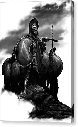 Ancient Canvas Print - Spartans by Matt Kedzierski