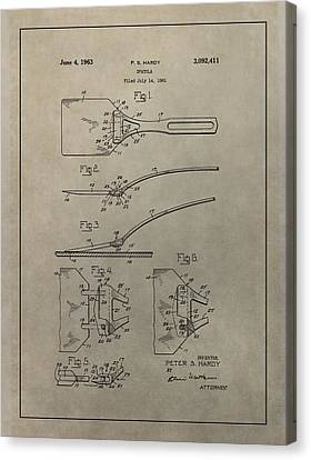 Spatula Patent Illustration Canvas Print by Dan Sproul