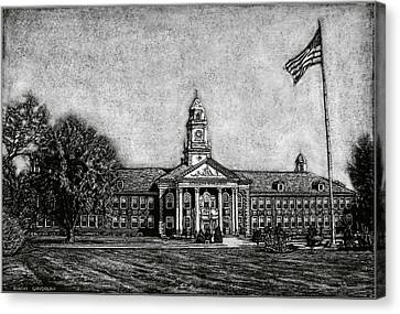Spaulding High School - Rochester Nh Canvas Print by Robert Goudreau