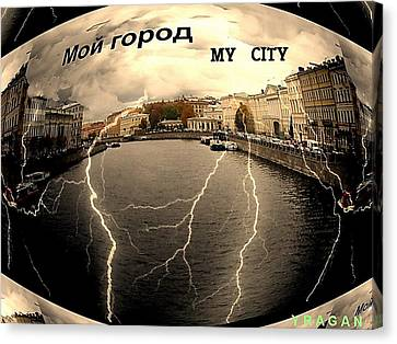 Spb-my City Canvas Print by Yury Bashkin
