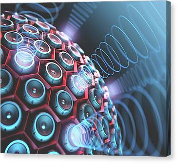 Speakers Canvas Print by Ktsdesign