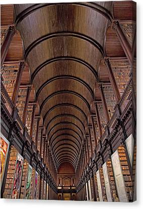 Speaking Shelves Of Trinity College Canvas Print by Betsy Knapp
